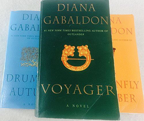 Diana Gabaldon: 3 Book Set: softcover: Dragonfly in Amber: Drums of Autumn: Voyager: Very Good