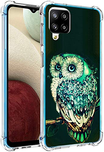 Owl Case for Samsung Galaxy A12,Gifun Hard PC+TPU Bumper Clear Protective Case Compatible with Samsung Galaxy A12 6.5' - Vintage Owl