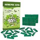 Remake 40 Piezas - Pinzas Ropa Ecológico 95% con Plastico Reciclado, Talla Grande....