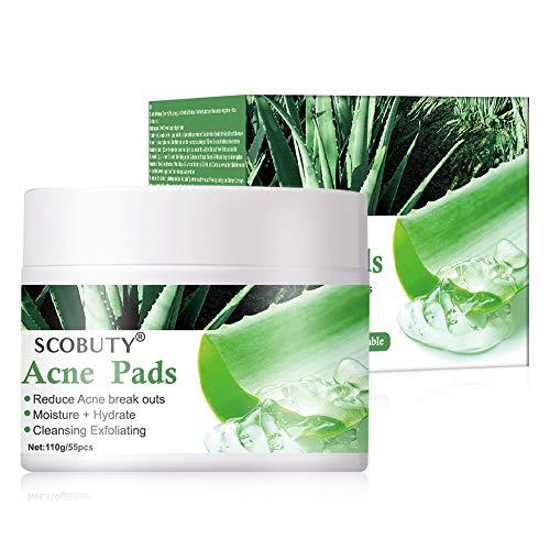 Akne Pads, Anti Pickel Pads Makse,Poren Reiniger Pads,Akne-Kontrollpads für schrumpfende Poren, Ölkontrolle, Verbesserung des Akneproblems der Haut und Reparatur des Hautzustands