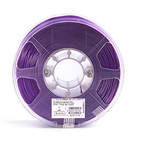 YANHAI Filament d'imprimante PCL 3D 1.75mm Stylo d'impression 3D à Basse température , 1KG Purple