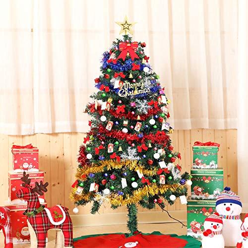 Cycle Crafts Albero di Natale Artificiale,Albero di Natale 150cm ,Artificiale con luci e Ornamenti a LED,Gonna per Albero Regalo Facile da Montare