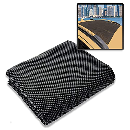 Zento Deals Car Roof Mat for Cargo Bag Mesh Rubber Mat for Car Roof Carrier Bag, Anti-Slip, Extra-Cushioning, Car Roof Padding, and Home Rubber Mat,Grip, Universal Usage,Car Roof Racks