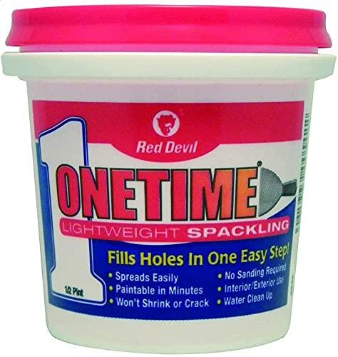 0542 ONETIME Lightweight Spackling, 1/2 Pint, White .2 - Pack