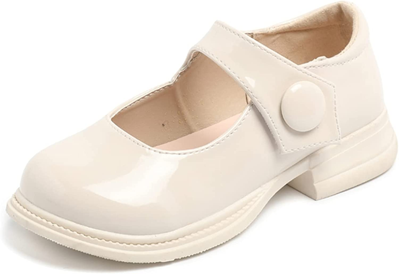 JUBAIYUAN Girl's Mary Jane School Uniform Shoelace Dress Uniform Flats Black (Toddler/Little Girl/Big Girl)