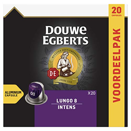 Douwe Egberts Lungo Intens Koffiecups, 10 x 20 Cups