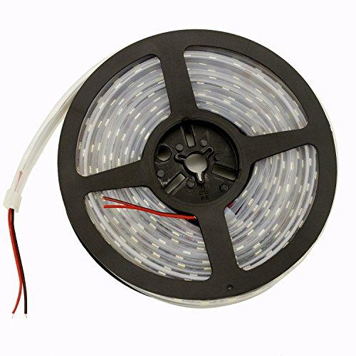 LEDテープライトLHYAN5m防水600連SMD5050二列式カバー付白ホワイト高輝度白ベース正面発光漁船/船舶/トラック/屋外照明/led間接照明(24V)