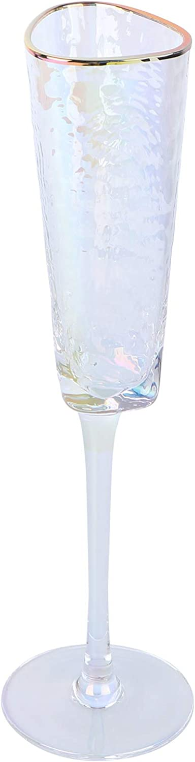 Deluxe KESYOO Champagne Flutes Crystal Stemware Glass Cl Philadelphia Mall Wine