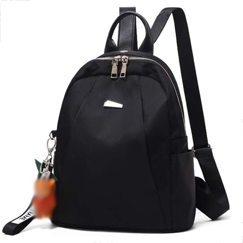 Backpack Leisure Bag Travel Bag Handbag Shoulder Bags, Oxford Cloth Fashion Wild Bag Travel Canvas Small Backpack Female Bag CONGMING (color   Black, Size   23  11  26cm)