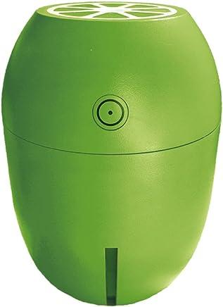 ADIR シトラス ミニ 加湿器 USB 超音波 加湿器 卓上 小型 レモン型 USBミニ 加湿器 超音波式 かわいい 卓上加湿器 超音波加湿器 USB加湿器 LED付き 静音 車載 オフィス 寝室 (ライム)