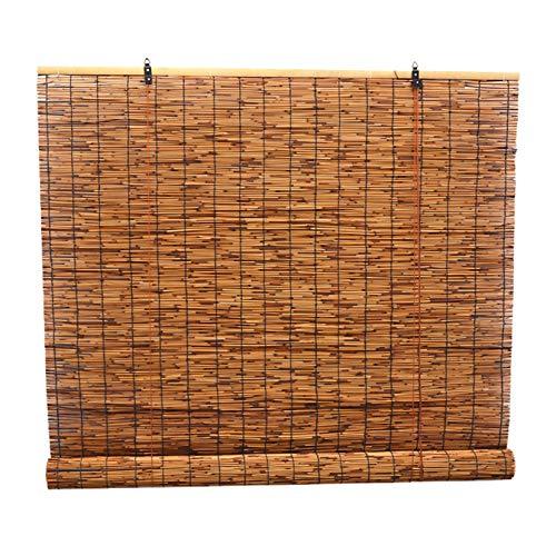 LBYDXD Persiana De Bambú Enrollable Retro Caña Cortina, persianas enrollables de bambú para Interiores, Sombreado/protección Solar, Fácil de Colgar, Cocina Cortina De Madera