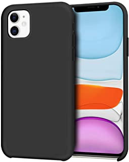 Anuck iPhone 11 Case, Anti-Slip Liquid Silicone Gel Rubber Bumper Case with Soft Microfiber Lining Cushion Slim Hard Shell Shockproof Protective Case Cover for Apple iPhone 11 6.1