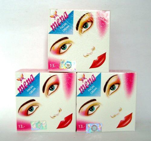 Mena Whitening Facial Day Cream Original Formula 3g (Pack of 3)