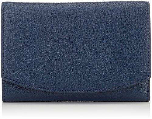Skagen Damen Damen Geldbörse - Compact Flap Geldbörse Blau (Ink)