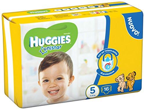 Huggies - Unistar - Pañales - Talla 5 (11-19 kg) - 16 pañales