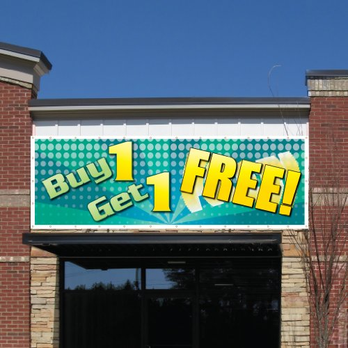 VictoryStore Outdoor Banners - Business Banner - 4 feet X 12 feet Buy One Get One Free!� 10 Ounces Vinyl Banner, with Grommets for Hanging