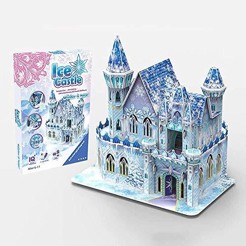 Abcoll DIY Cottage Puzzle Kinder Intelligenz Assembly Modell 3D Dreidimensionales Puzzle Toy Castle kann 62 Stück geöffnet und geschlossen Werden