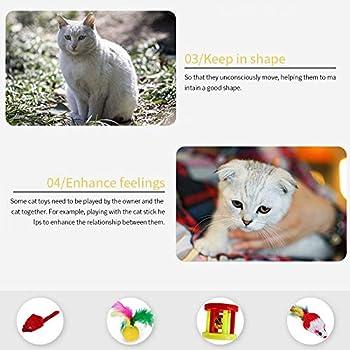 Lot de 24 Jouets interactifs pour Chats Kitty Jouets Chat Souris y Balles avec Plumes Jouets en Peluche Clochette interactifs Animaux Domestiques Toys pour Chat Chaton Minou