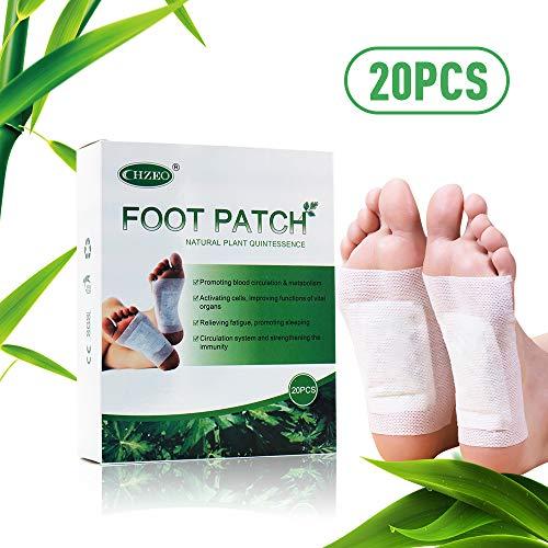 Pflaster Vitalpflaster Bambus Foot Pads, Qualitativ hochwertig und gut verträglich (20PC)