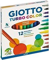 Giotto Turbo Color pennarelli in astuccio da 12 colori