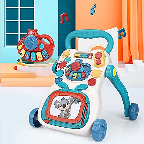 N\C Bebé Walker Trolley Educación Temprana Educación Bebé Multifuncional Tres en uno Walker Music Toy Anti-rollover