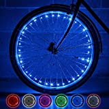 Monkey Light NLX1 LED Bike Wheel Lights USA Assembled. Attaches to Spokes at The tire. 100% More: 40 LEDs. Waterproof, Great for Bike Trailers for Toddlers, Teen Tween boy and Girls Gifts. (Blue)