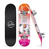 Beleev Skateboards for Beginners, 31 Inch Complete Skateboard for Kids Teens Adults, 7 Layer Canadian Maple Double Kick Deck Concave Cruiser Trick...