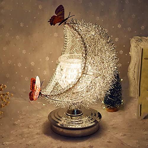 SUQIAOQIAO Decoración Creativa Lámpara De Aceite Esencial Eléctrica, Air Aroma Diffuser Dimmable Noche Luz Lámpara De Mesa