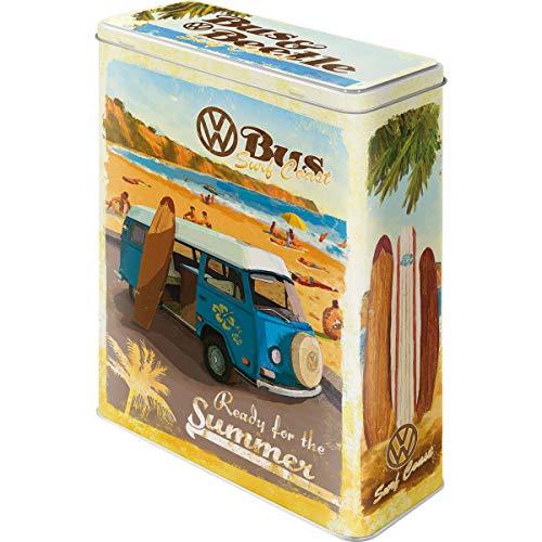 Nostalgic-Art Retro XL Vorratsdose, Aufbewahrungsbox, Volkswagen - Bulli & Beetle - Ready for the Summer, 4 l