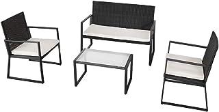Aktive 61009 Conjunto muebles ratán para jardín, Multicolor