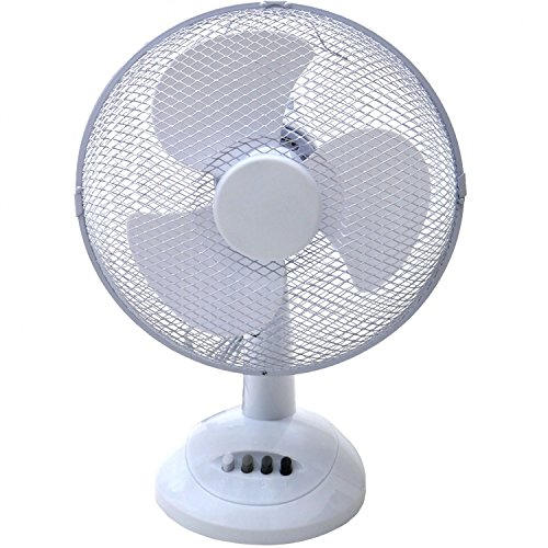 Oypla Electrical 12' 3 Speed Oscillating Electric Desk Home Office Fan