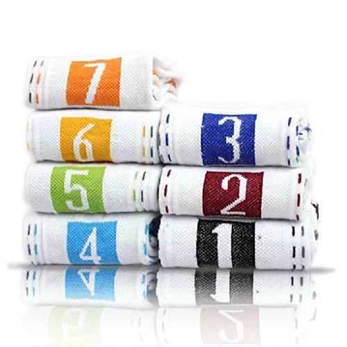 VANKER 7 Paires Blanc Creative Chaussettes Quotidiennes 7 Jours Semaine pour Homme en Coton Doux Chaussettes de Sport