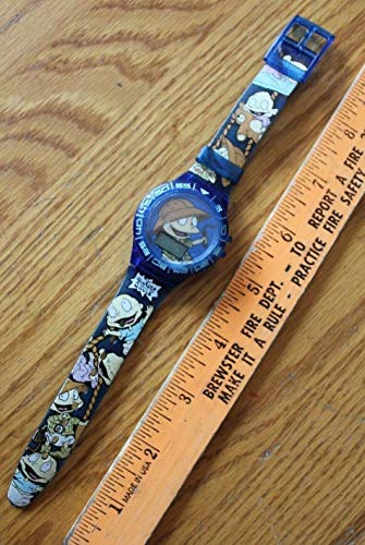 1998 TOMMY PICKLES THE RUGRATS MOVIE Blue Watch BURGER KING For Vintage NOT WORKING