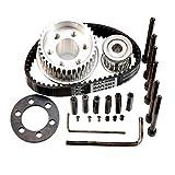 vanpro DIY Electric Skateboard 83MM 90MM 97MM PU Wheel Pulleys Kit Set 36/18 Tooth Belt 15MM 5M (Snow Black, Pack of 1)