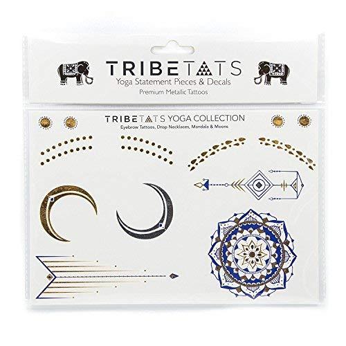 TribeTats NYC Designer Metallic Yoga Houston Mall Temporary Tattoos Collecti Columbus Mall