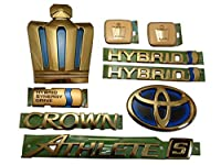 【HYBRID:ハイブリッド】 210系クラウン アスリート-S ゴールドエンブレム9点セット