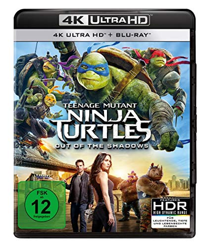 Teenage Mutant Ninja Turtles - Out of the Shadows (4K Ultra HD) (+ BR) [Blu-ray]