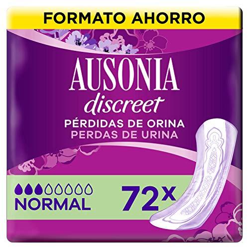 Ausonia Discreet Compresas Incontinencia Mujer, Normal, 72 Unidades para Pérdidas de Orina y Vejigas Hiperactivas
