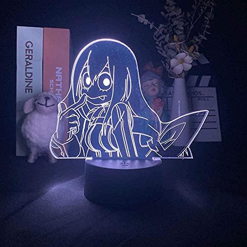 Lámpara de ilusión 3D, luz de noche Led, Anime My Hero Academia, personaje académico, chico, bebé, regalo de cumpleaños, dormitorio, decoración de oficina