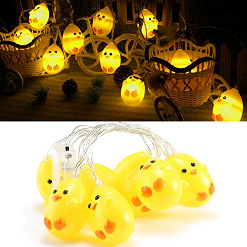 Outgeek String Light, 20 Light Bulbs Light Chick Luce a Forma di LED Home String Light per la Festa di Compleanno di Nozze Decorazione di Pasqua
