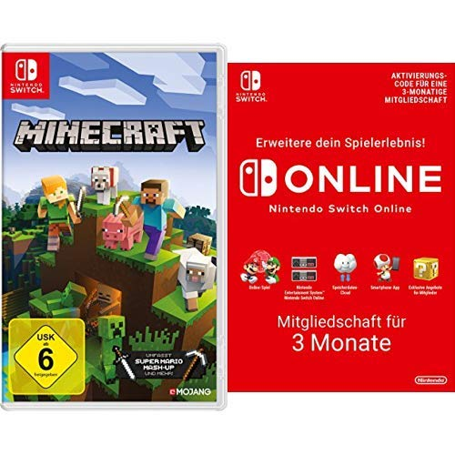 Minecraft: Nintendo Switch Edition [Nintendo Switch] + Switch Online 3 Monate [Download Code]