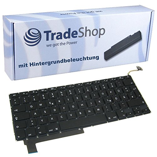 Trade-Shop Premium Laptop-Tastatur / Notebook Keyboard Ersatz Austausch Deutsch QWERTZ für Apple Macbook Pro 15