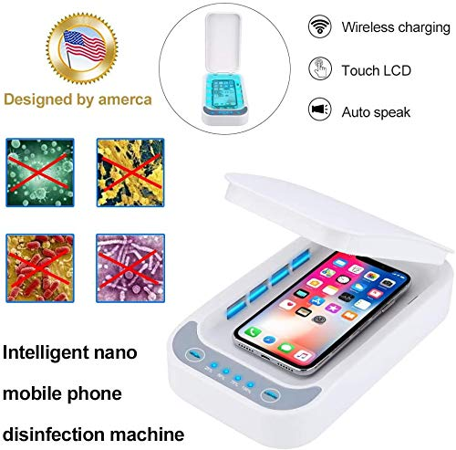 UV Cell Phone soap Sanitizer for iPhone soap Sterilizer, Aromatherapy Function Disinfector, Phone Cleaner with USB Charging for iOS Android Mobile Phone Toothbrush Pacifier