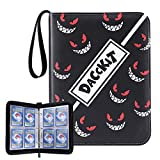 D DACCKIT Carrying Case Binder Compatible with Pokemon Trading Card - Holds Up to 400 Cards, Card Collectors Album with 50 Premium 4-Pocket Pages - Shadow Black