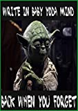 Star wars baby yoda notbook journal 6×9 inch with 120 papers write in baby yoda minde: notbook journal 6×9 inch with 120 papers (English Edition)