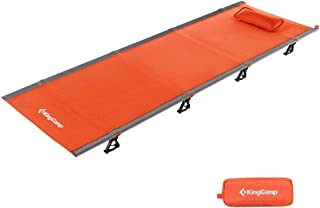 featured product KingCamp Ultralight Camping Cot with Removable Pillow 4.9 Pounds Aluminum Frame Compact Folding Tent Bed with Carrying Bag for Outdoor Travel Hiking Backpacking, Support 265lbs, 75 x 25 x 4.7inches