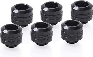 Alphacool Eiszapfen PRO 13mm HardTube Fitting G1/4   Deep Black Sixpack