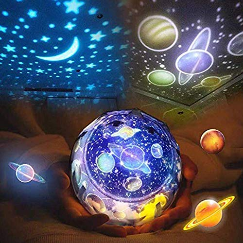 Star Night Light for Kids, Universe Night Light Projection Lamp, Romantic Star Sea Birthday New Projector lamp for Bedroom - 6 Sets of Film