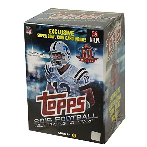 2015 Topps NFL Football EXCLUSIVE Factory Sealed Retail Box with Special Commemorative SUPER BOWL COIN! Includes ROOKIE in Every Pack! Look for RC & Autographs of Jameis Winston,Marcus Mariota & More! Chrome Football Retail Box