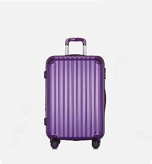 "XLHJFDI Ultralight Business Suitcase,PC+ABS Convenient Trolley Case,Silent Universal Wheel Suitcase,20"" 24"" Inch (Color : Purple, Size : 20 inches)"